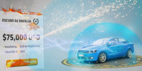 car firing a banner ad